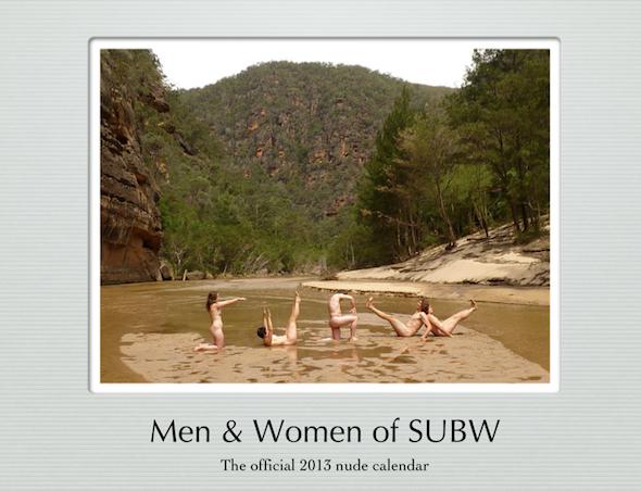 SUBW 2013 Calendar cover
