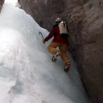 Ice climbing in BS Canyon (Canadian Rockies)